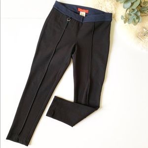 Anthropologie Black & Navy Blue Pants Trousers 2